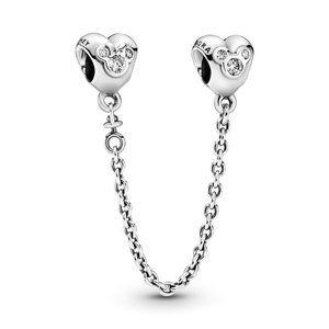 🍓Pandora Disney Mickey Silver Safety Chain